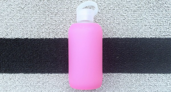BKR water bottle in bubblegum pink