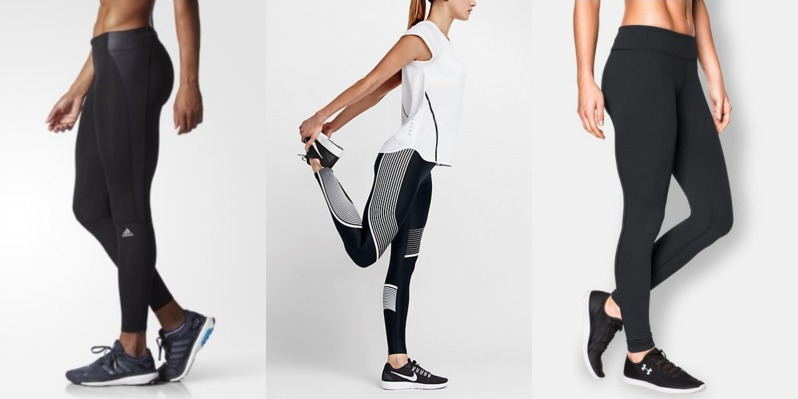 Adidas Under Armour and Nike women's tights
