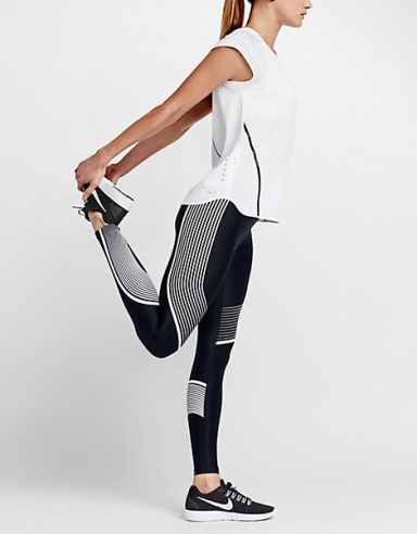 Nike Women's Power Speed Tight in black and white