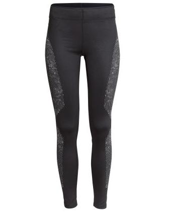 H&M Winter Running Tights in black